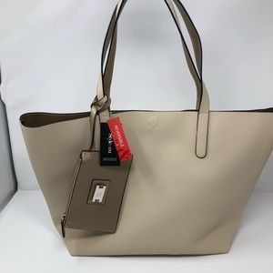 Style & Co Clean Cut Reversible Tote With Wristlet